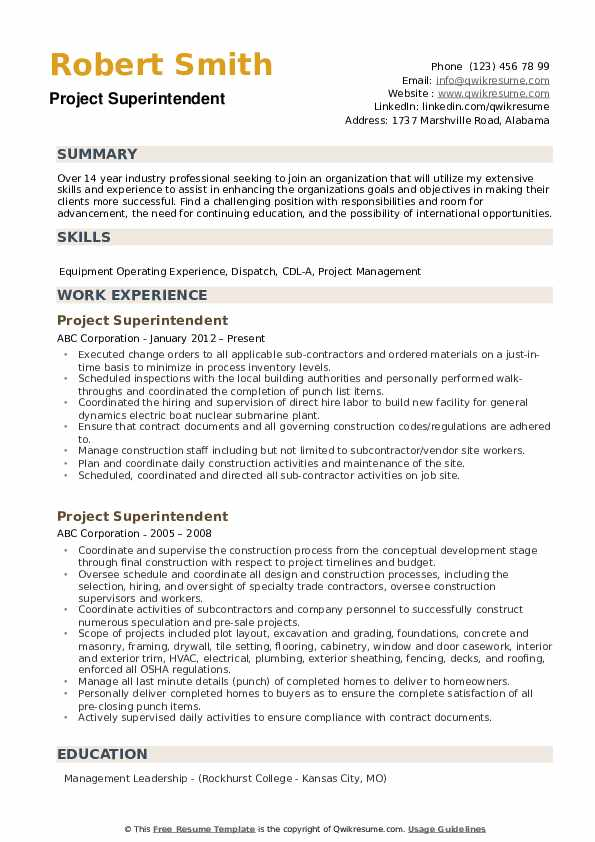 project superintendent resume samples qwikresume construction pdf entry level clinical Resume Construction Superintendent Resume Pdf