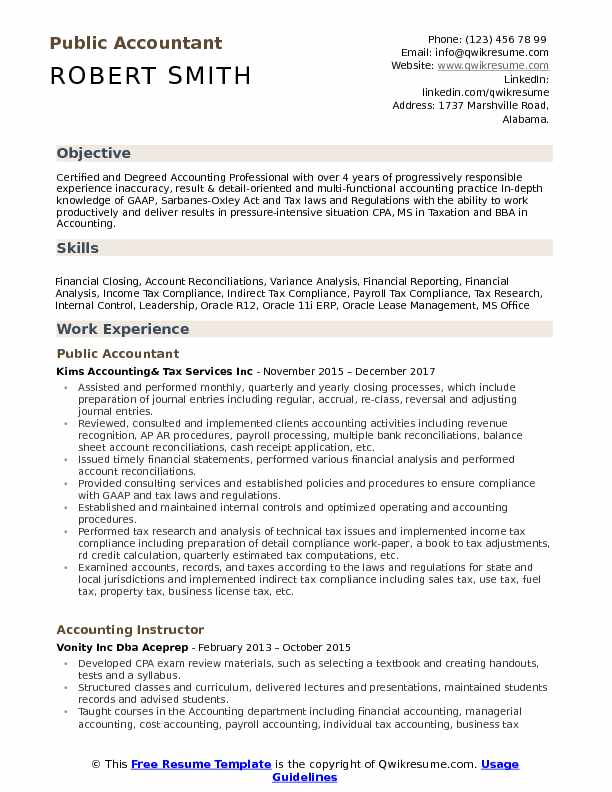 public accountant resume samples qwikresume objective statements for accounting pdf Resume Resume Objective Statements For Accounting