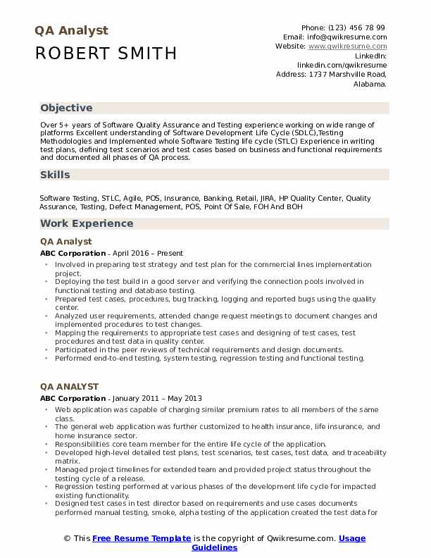 qa analyst resume samples qwikresume software testing for years experience pdf general Resume Software Testing Resume Samples For 5 Years Experience