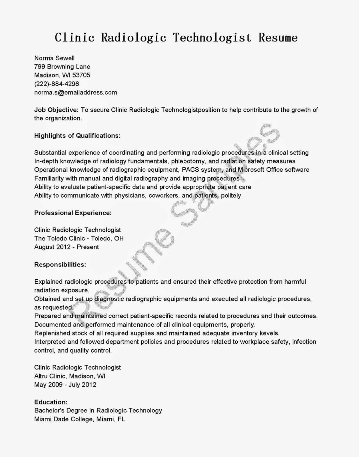 radiologic technologist resume examples line 17qq sample for fhmfgkfqqwy customer service Resume Sample Resume For Radiologic Technologist