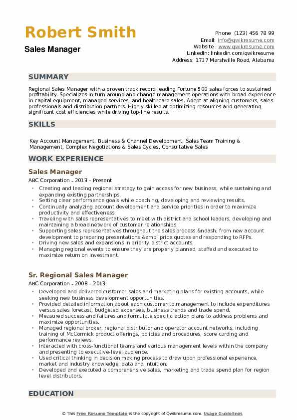 regional manager resume samples qwikresume sample pdf licenses and certifications on Resume Sales Manager Resume Sample