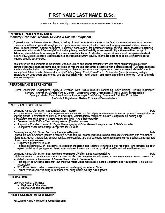 regional manager resume template premium samples example career objective for healthcare Resume Regional Sales Manager Resume