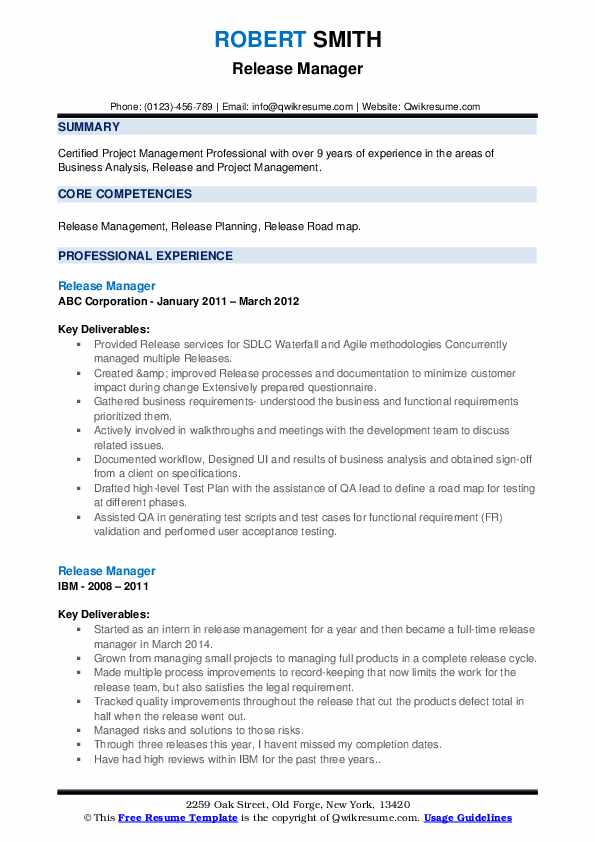 release manager resume samples qwikresume configuration management examples pdf Resume Configuration Management Resume Examples