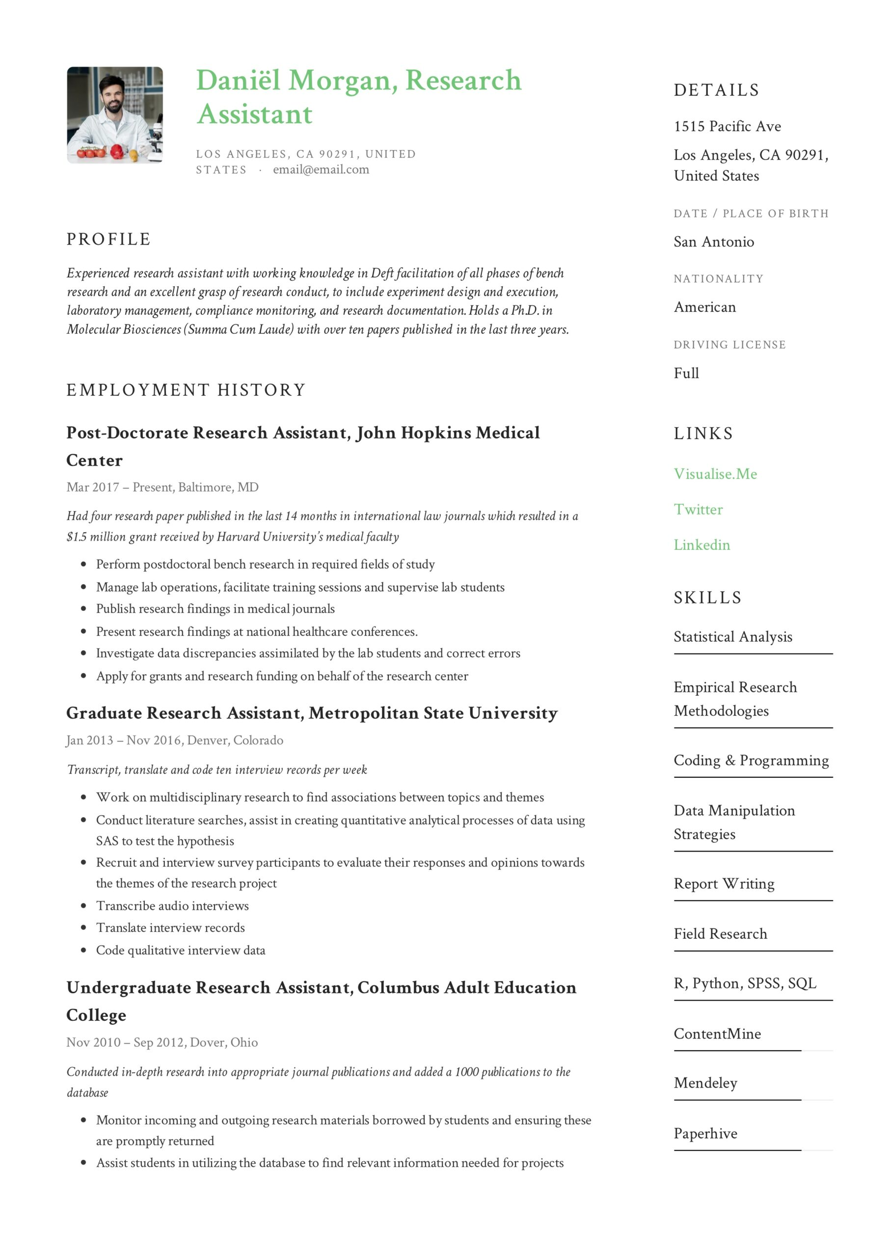research assistant resume writing guide examples paper publications and presentations Resume Paper Publications And Presentations Resume