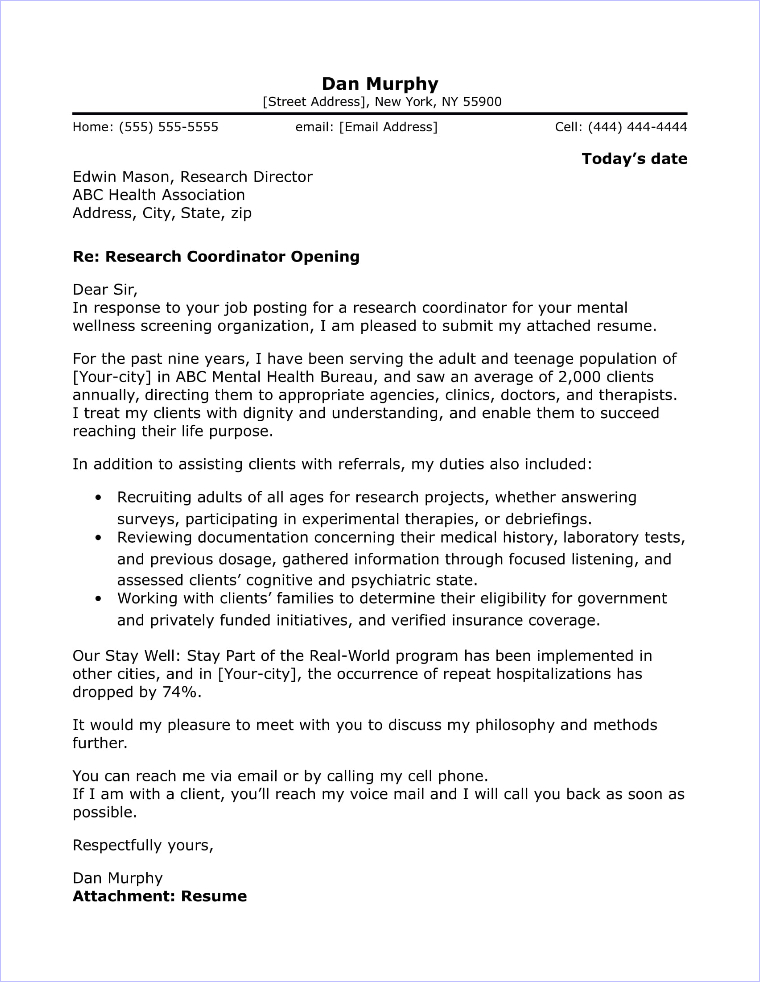 research cover letter sample mental health resume hotel housekeeping computer technician Resume Mental Health Resume Cover Letter