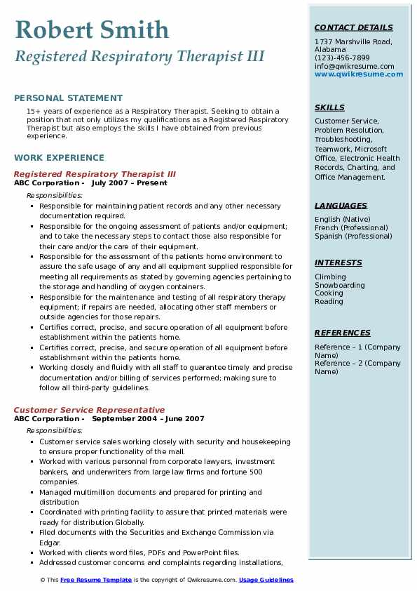 respiratory therapist resume samples qwikresume sample pdf beginner sociology degree for Resume Respiratory Therapist Resume Sample