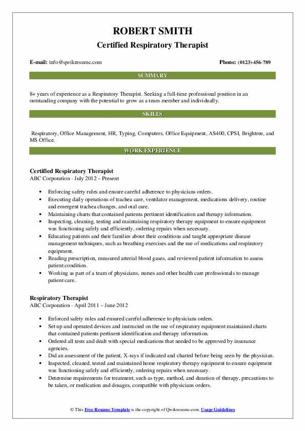 respiratory therapist resume samples qwikresume sample pdf conducted market research of Resume Respiratory Therapist Resume Sample