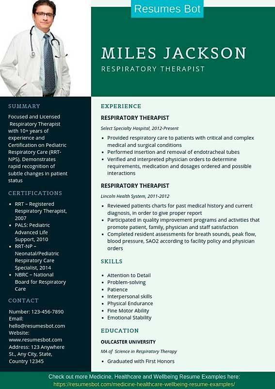 respiratory therapist resume samples templates pdf word resumes bot sample example for Resume Respiratory Therapist Resume Sample