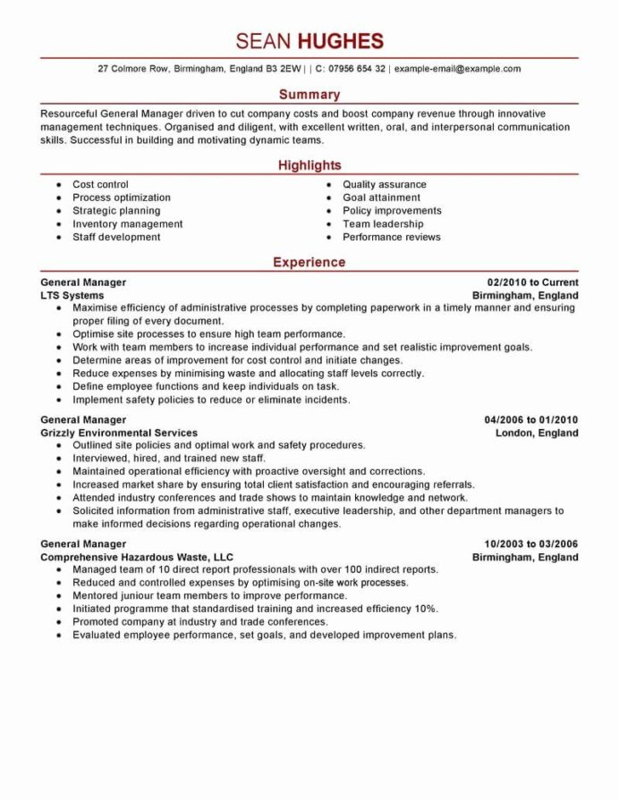 restaurant general manager resumes best of resume example examples job description Resume Restaurant Manager Resume Sample