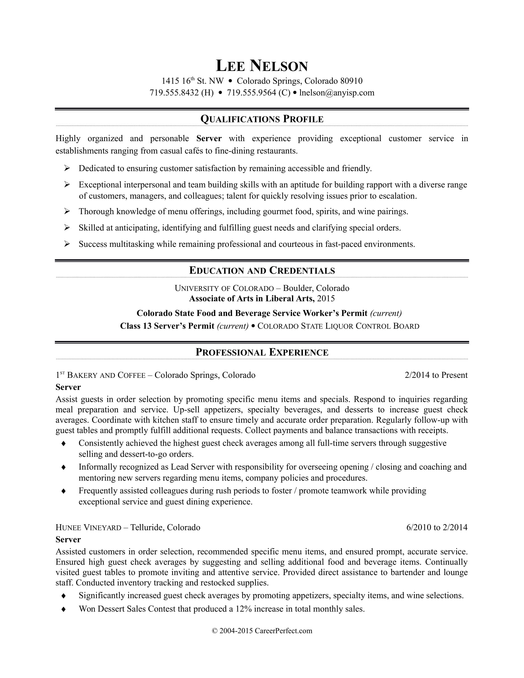 restaurant server resume sample monster great skills for review summary on indeed Resume Great Skills For Resume