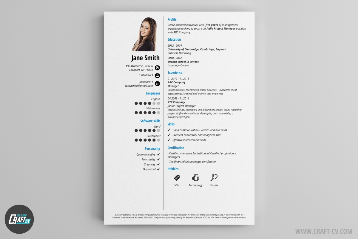 resume builder templates craftcv free and for server job can you put volunteer work on Resume Free Resume Builder And Download