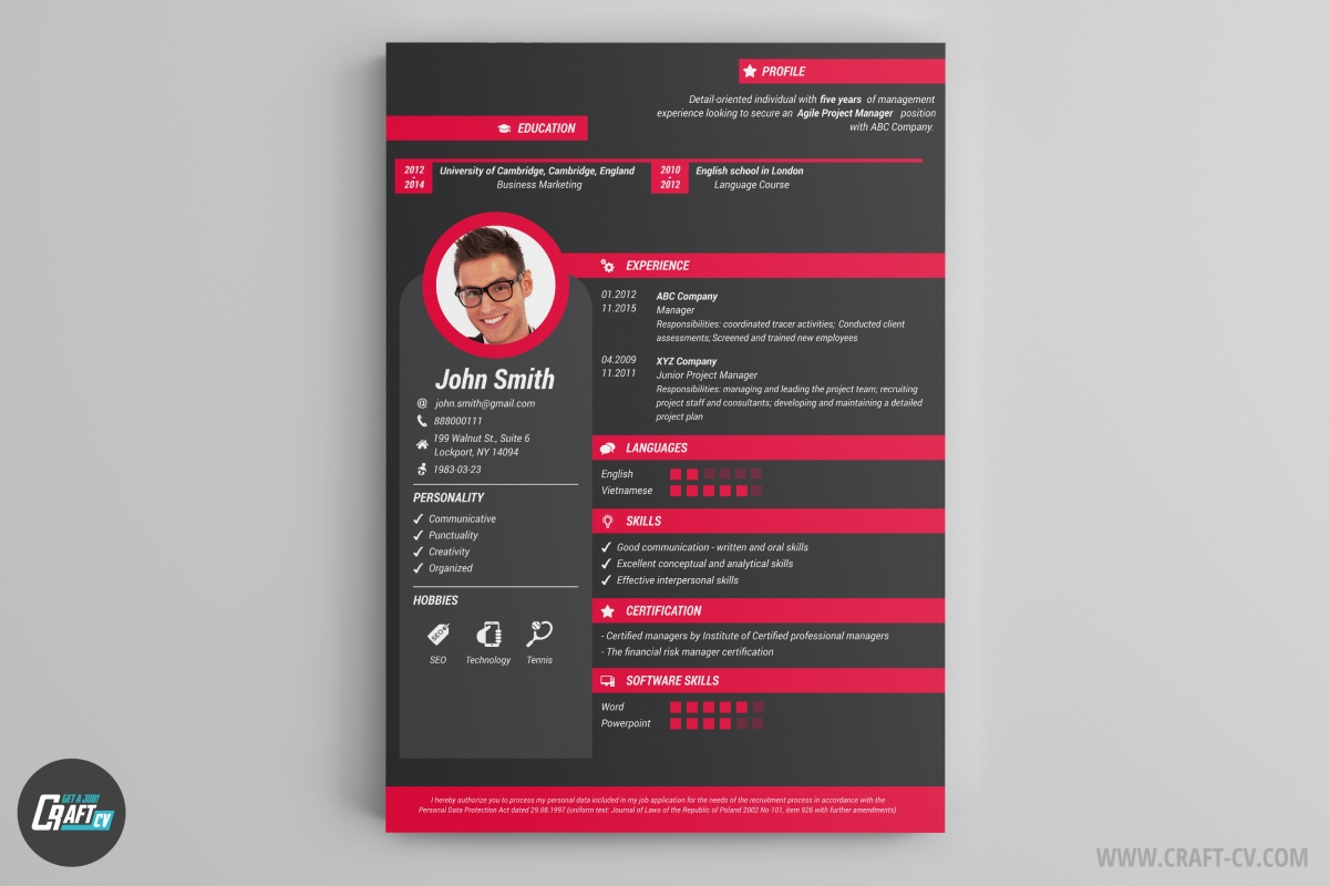 resume builder templates craftcv professional and creative first job examples college Resume Professional And Creative Resume Templates