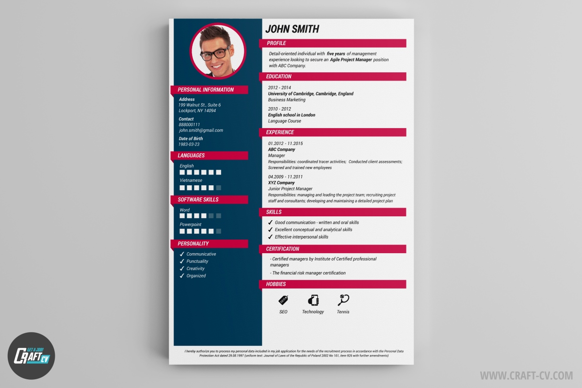 resume builder templates craftcv that stand out community service volunteer policy Resume Resume Templates That Stand Out