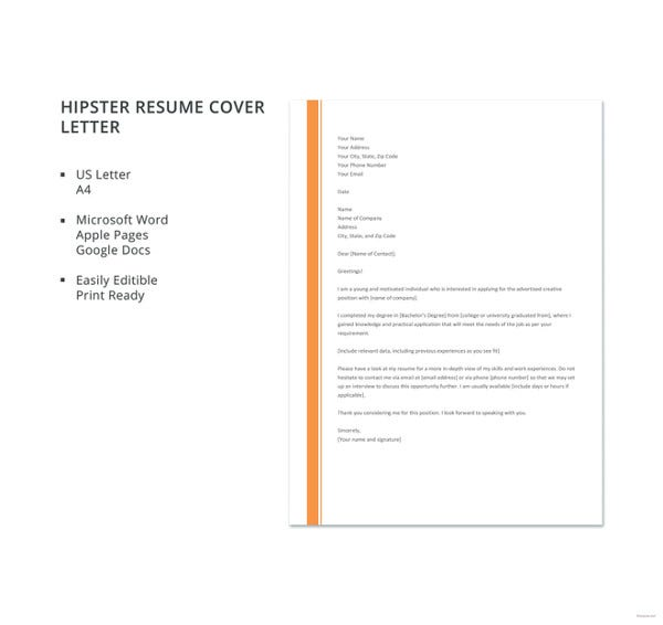 resume cover letter free word pdf documents premium templates job application hipster Resume Job Application Resume Cover Letter
