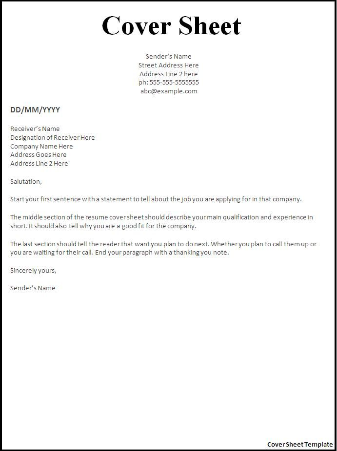 resume cover letter template for sheet example creative layout entry level case manager Resume Resume Cover Sheet Example