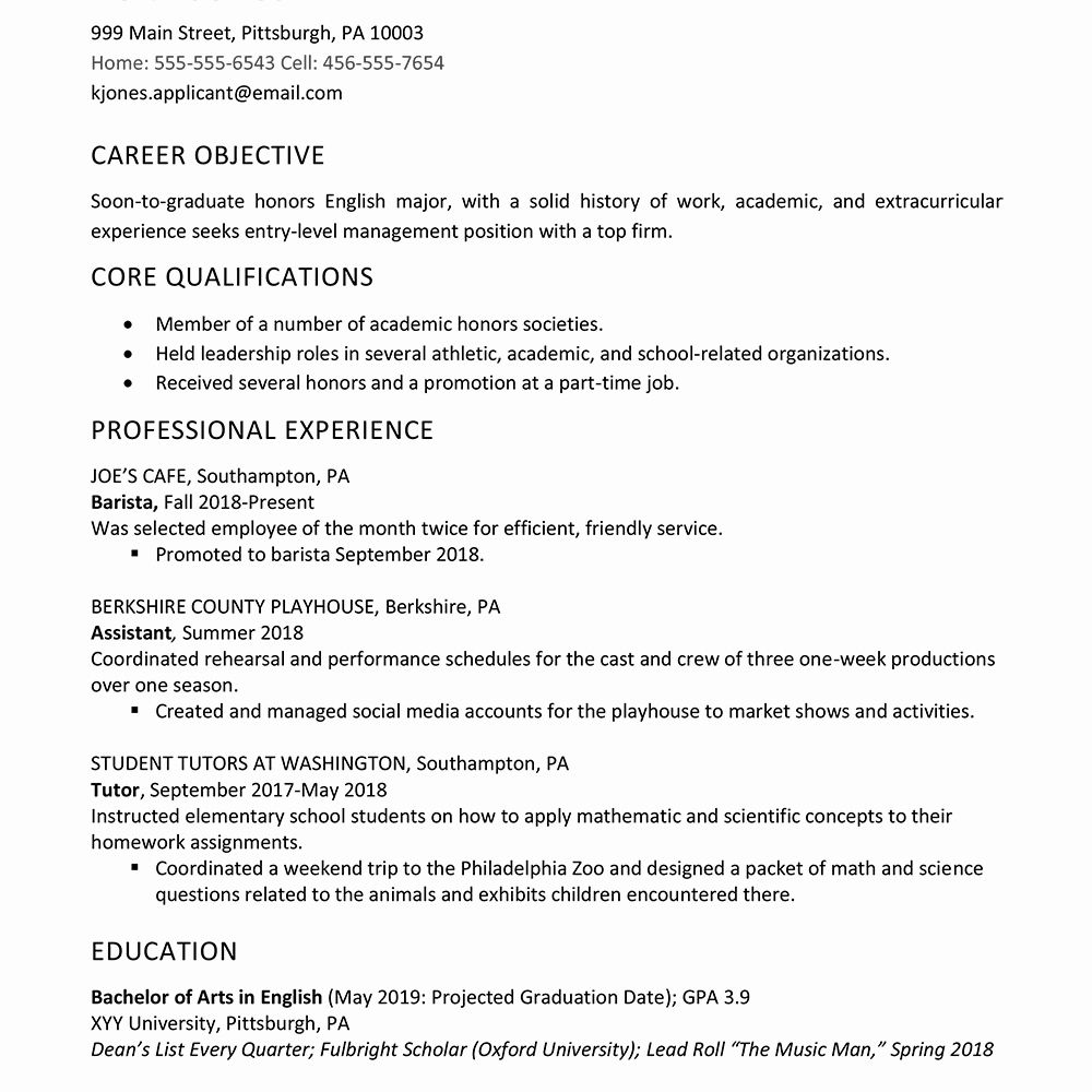 resume examples for graduate school lovely high example work experienc job sample Resume Sample Resume For High School Graduate