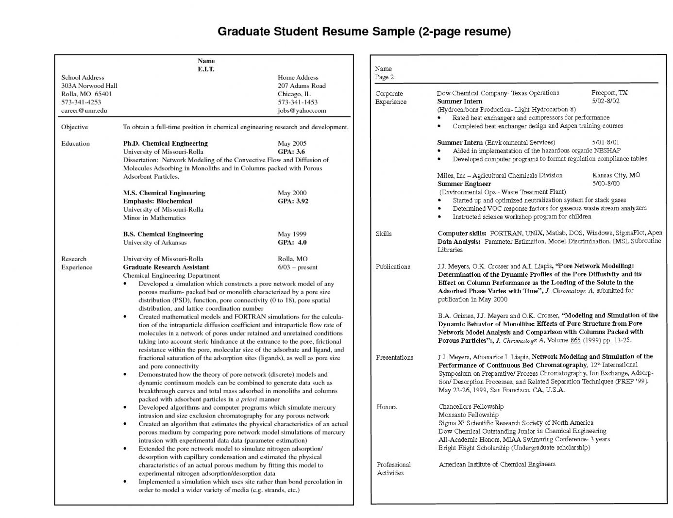 resume examples in good template downloadable format optimization software restaurant Resume 2 Page Resume Format