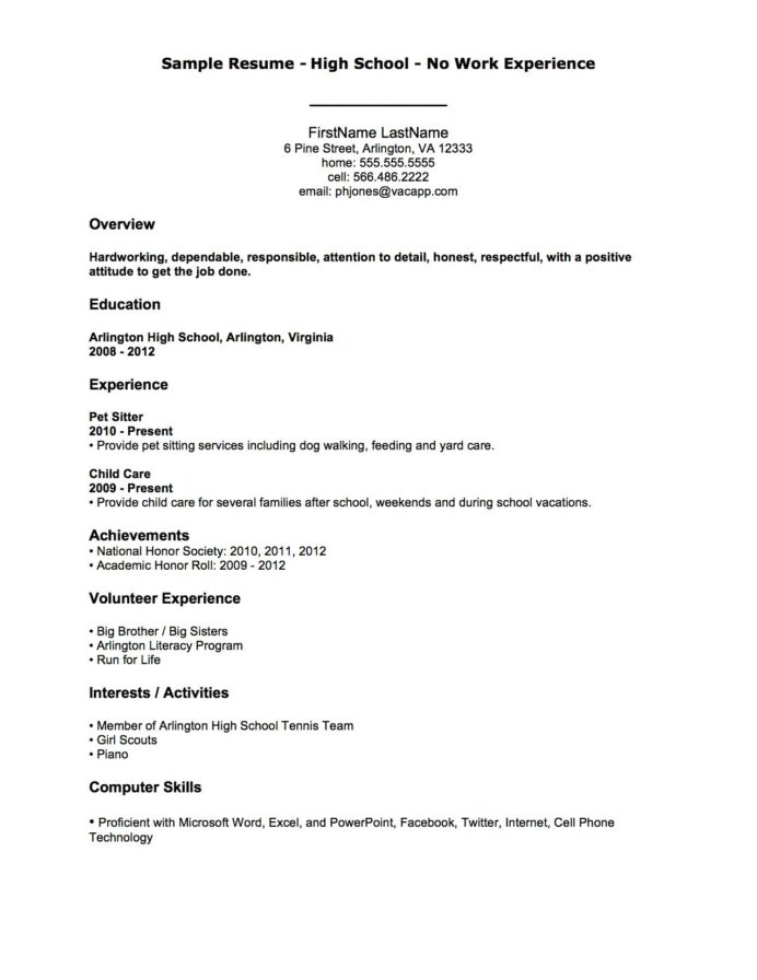 resume examples with no job experience first template previous whats cover letter for Resume Previous Job Experience Resume