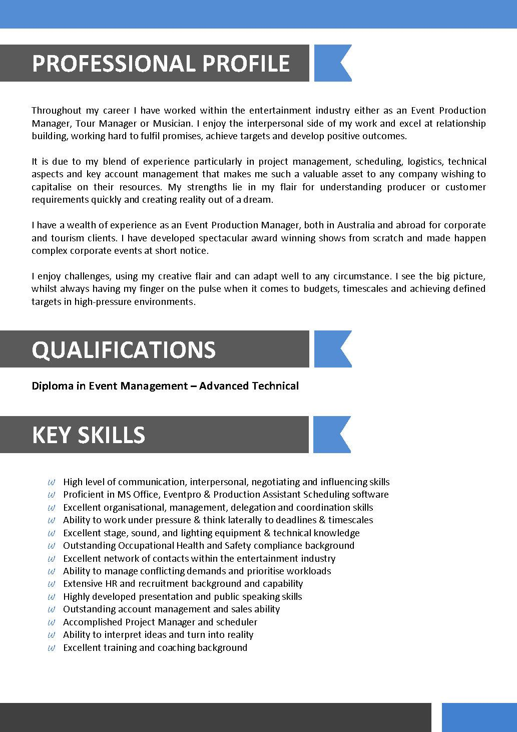 resume format for entertainment industry skills research analyst office template self Resume Entertainment Skills Resume