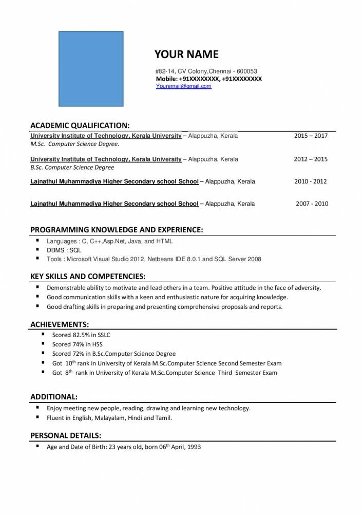 resume format for sc computer science freshers free samples projects now frsher chris Resume Computer Science Resume Download