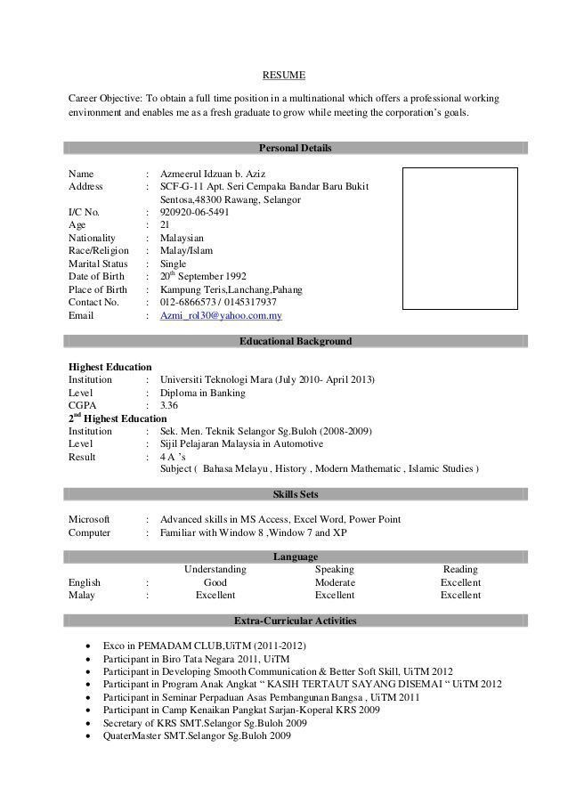 resume format for taxation executive wellness coordinator objective general freshers best Resume Sample Of Resume Objective For Fresh Graduate
