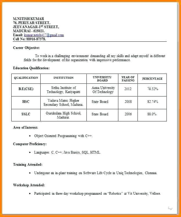 resume format job interview for freshers compliance officer objective environmental Resume Resume Format For Job Interview