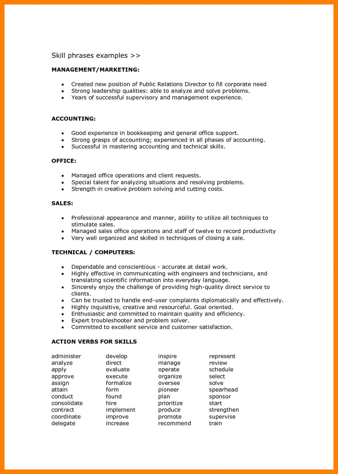 resume format language skills examples objective skill set acting free up adobe indesign Resume Skill Set Resume Format