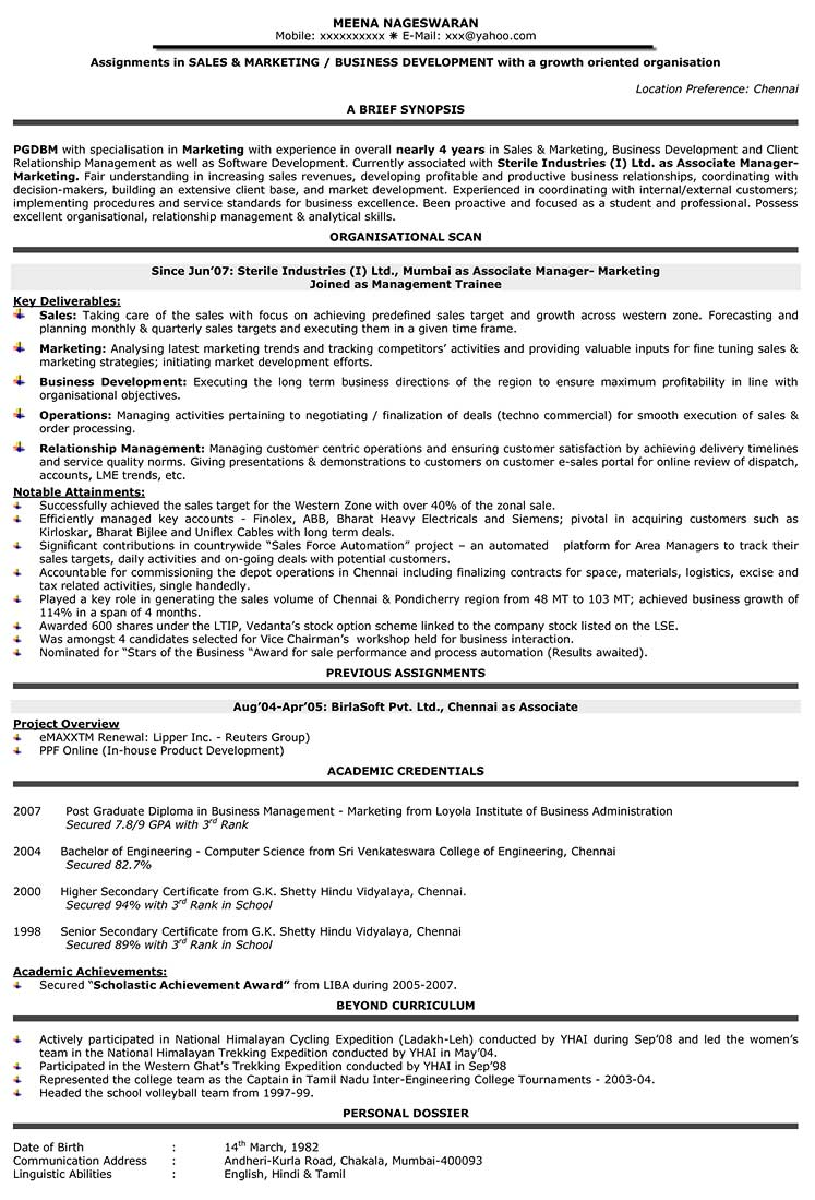 resume format samples cv sample naukri writing for position level v1 receptionist duties Resume Writing A Resume For A Sales Position