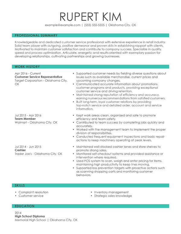 resume formats guide my perfect best professional format chronological customer service Resume Best Professional Resume Format