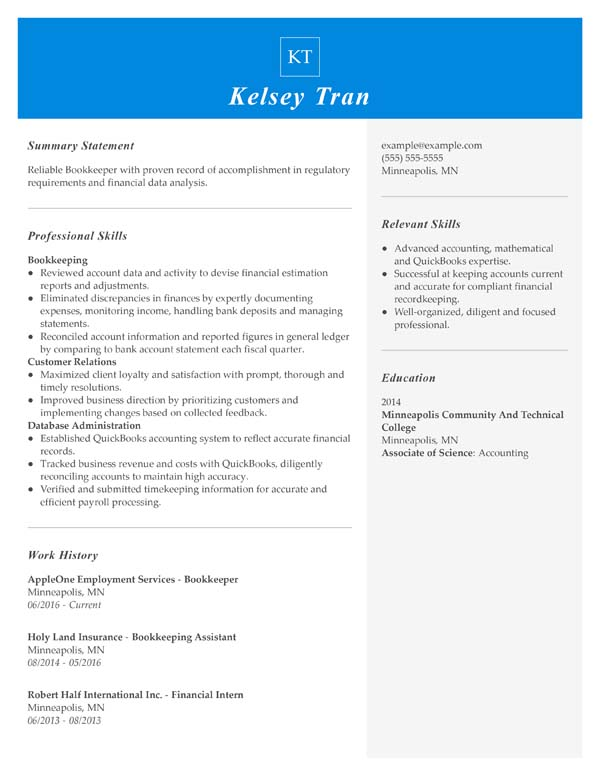 resume formats minute guide livecareer easy to read format functional bookkeeper mortgage Resume Easy To Read Resume Format