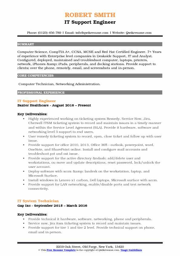 resume headline examples for customer service desktop support engineer airport security Resume Desktop Support Engineer Resume