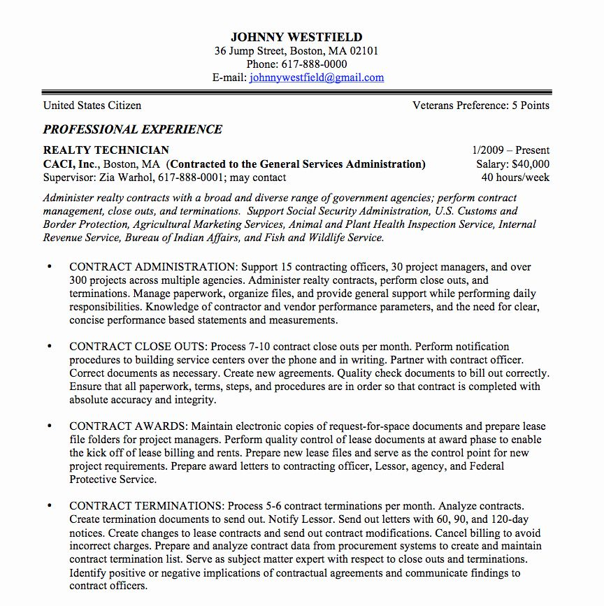 resume in paragraph form awesome federal sample and format the place job samples template Resume Government Contracting Officer Resume
