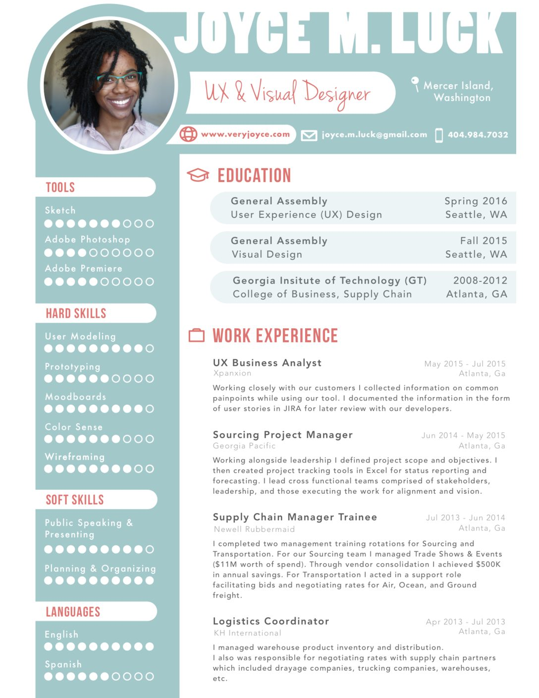 resume joyce luck digital portfolio rbc sample awards section example education layout on Resume Digital Resume Portfolio