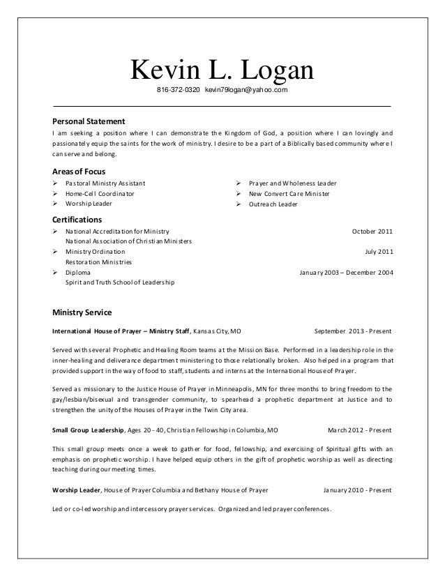 resume kevin ministry examples nursing detail oriented medical records self made unique Resume Ministry Resume Examples