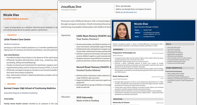 resume maker create standout professional and cv free designs new examples of hobbies for Resume Online Resume Maker Free