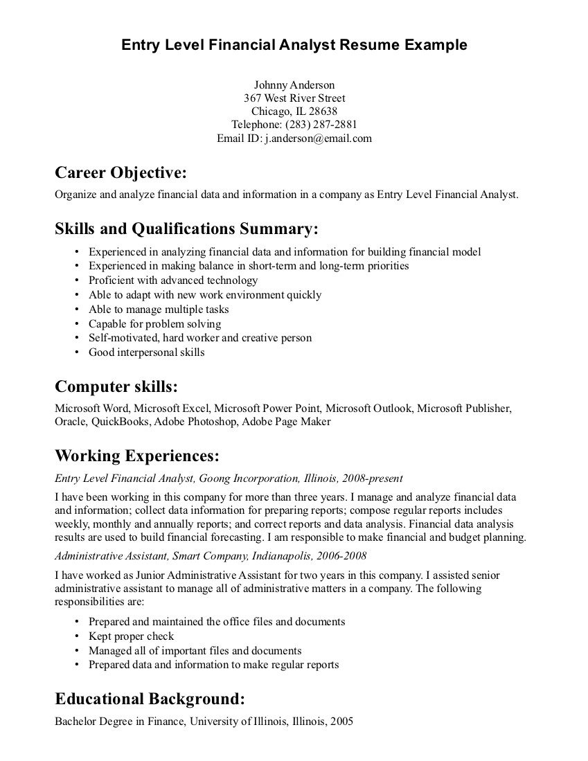 resume objective examples for any job career fair objectives summary of qualifications Resume Resume Objective For Career Fair