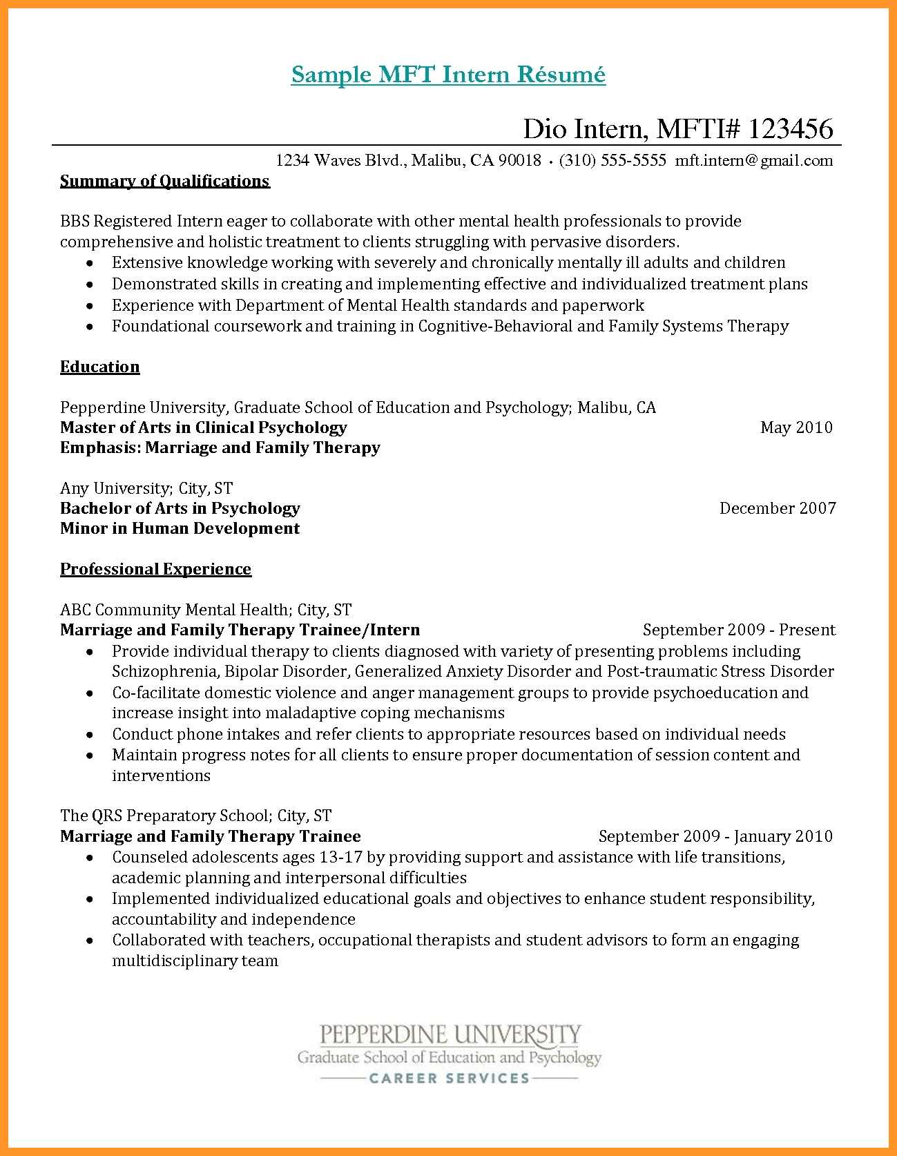 resume objective for mental health counselor assignments college freshman datapower Resume Objective For Mental Health Resume