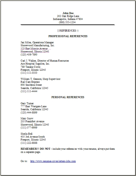 resume reference occupational examples samples free edit with word adding references to Resume Adding References To Resume