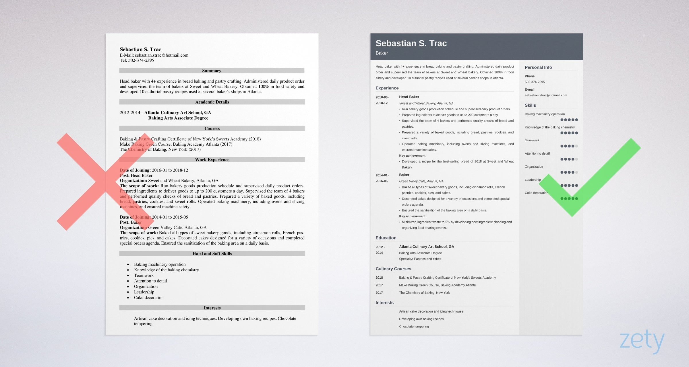 resume sample writing guide tips cake decorator template example recruiter examples Resume Cake Decorator Resume Template