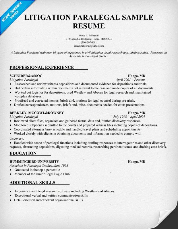resume samples and to write companion engineering examples sample litigation experience Resume Litigation Experience Resume