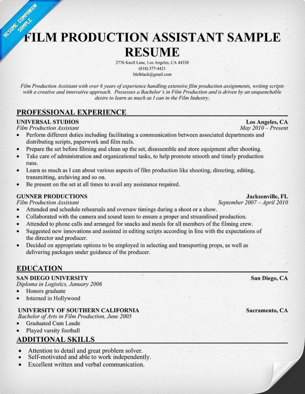 resume samples and to write companion examples manager film industry template cerner Resume Film Industry Resume Template