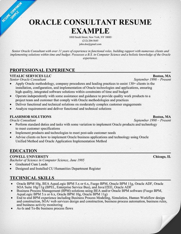 resume samples and to write companion sample examples oracle consultant general objective Resume Oracle Consultant Resume