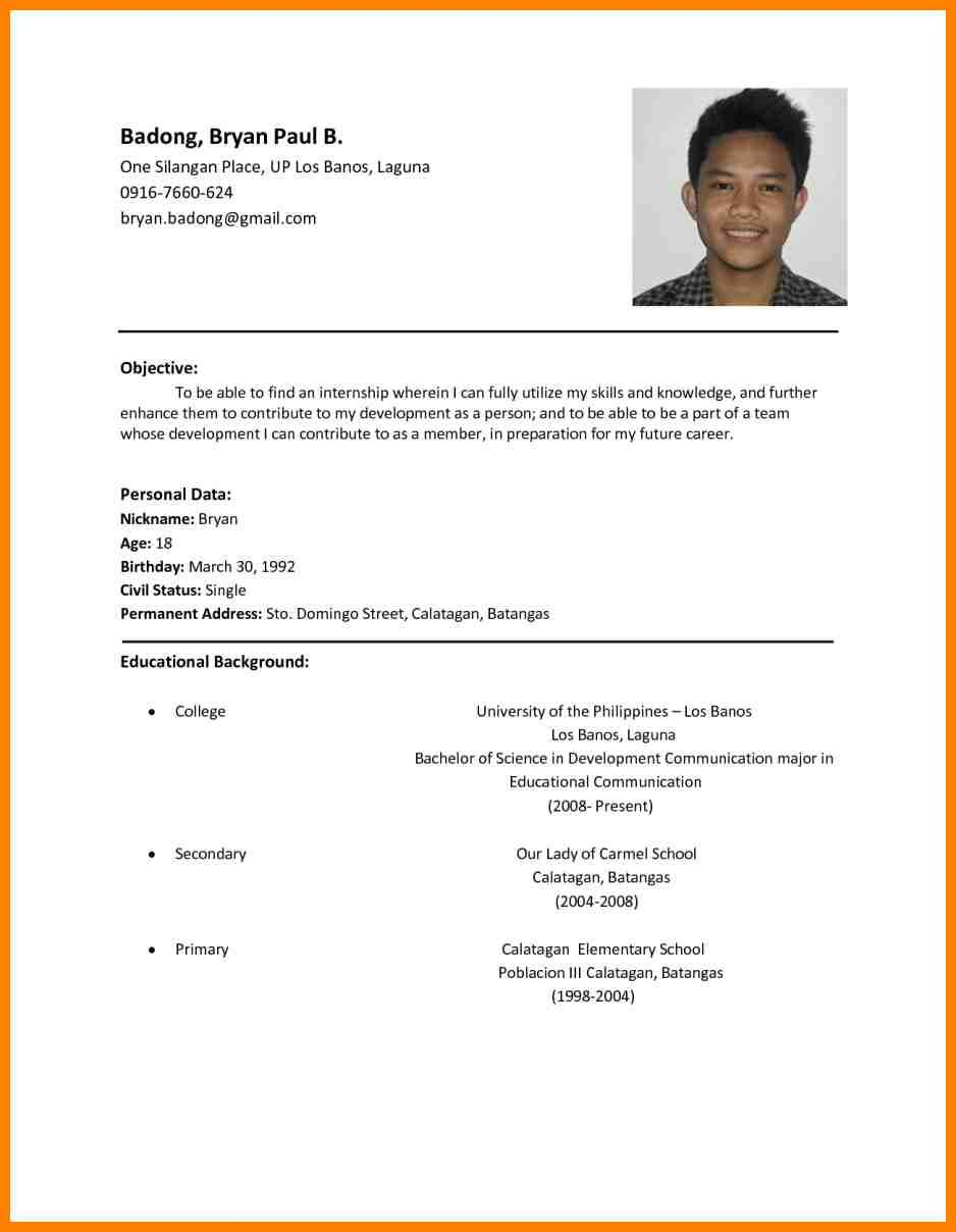 resume samples sample format basic examples for job usajobs federal template call center Resume Resume Sample For Job