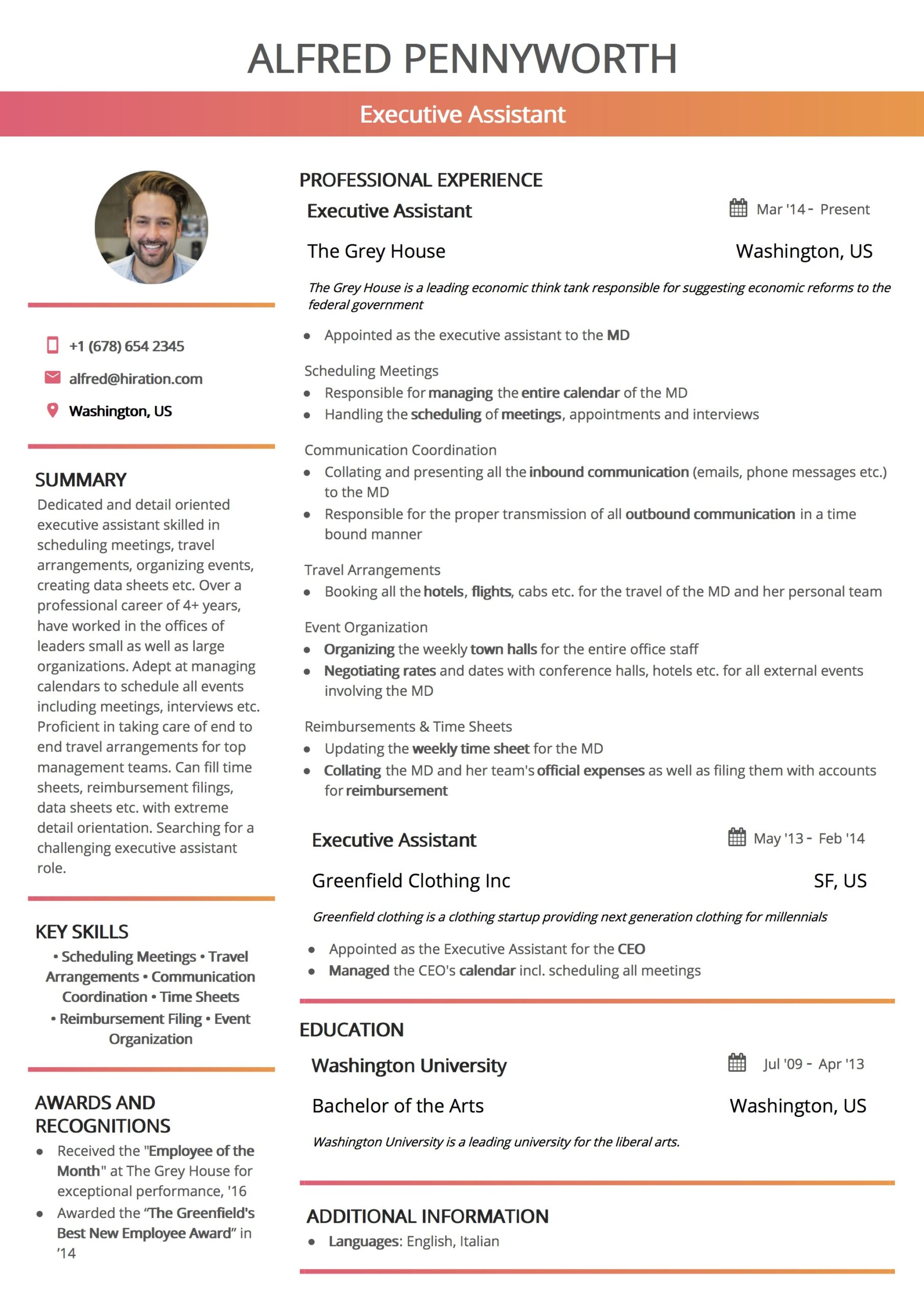 resume template by hiration new age templates student services coordinator engineering on Resume New Age Resume Templates