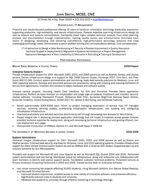 resume template for senior level it manager you can and make your own cover letter visual Resume Senior Level Resume Sample