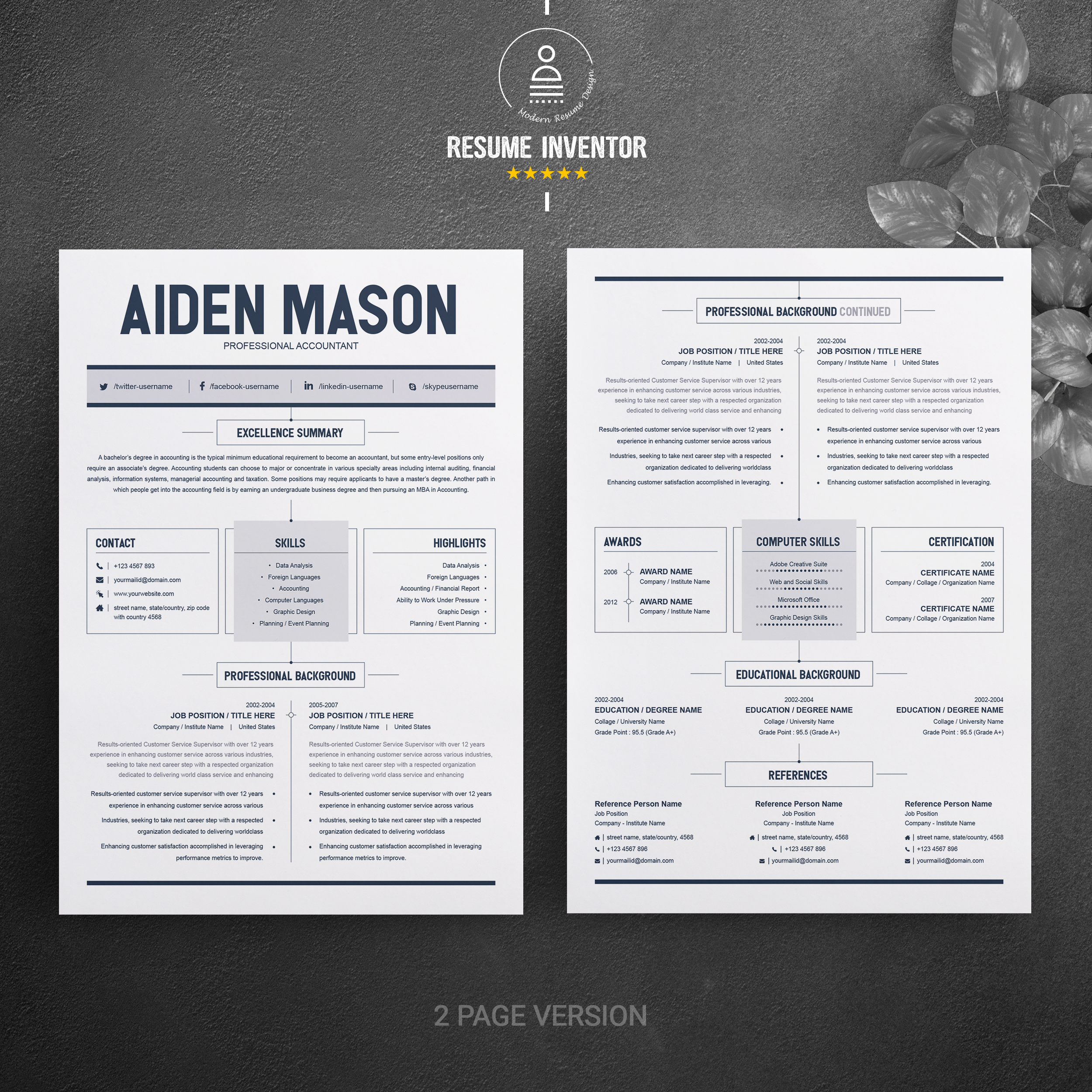resume template free resumes templates pixelify net format design template6 senior Resume 2 Page Resume Format