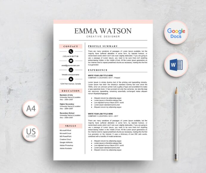 resume template google docs instant etsy word professional creative templates impressive Resume Free Resume Template Google Docs Download