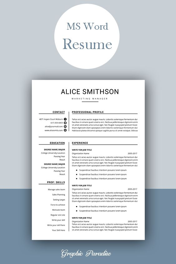 resume template professional instant etsy word free cv templates functional glory hog Resume Free Professional Resume Templates Word