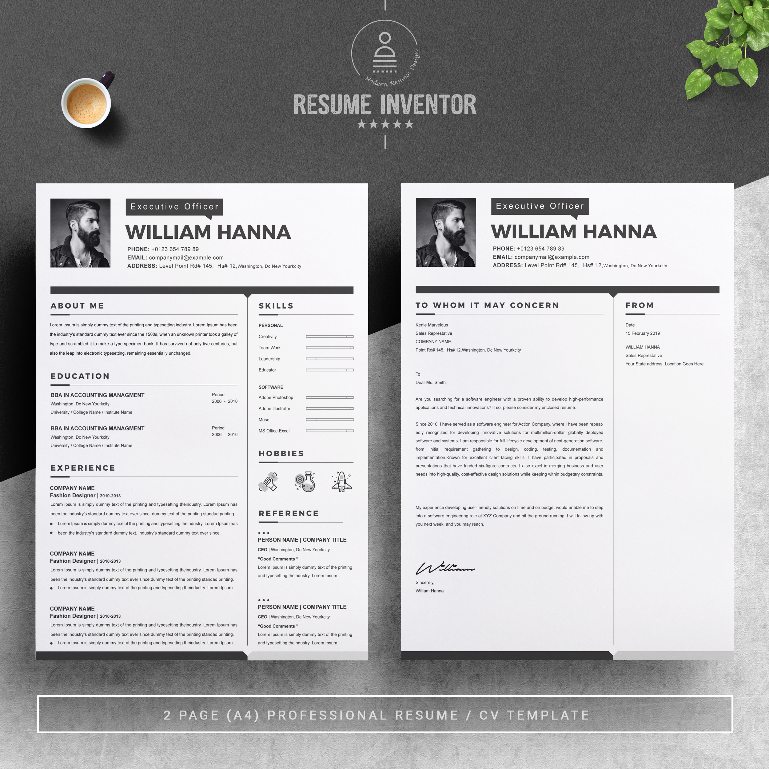 resume template with cover letter crella format free design clerical job duties for new Resume 2 Page Resume Format