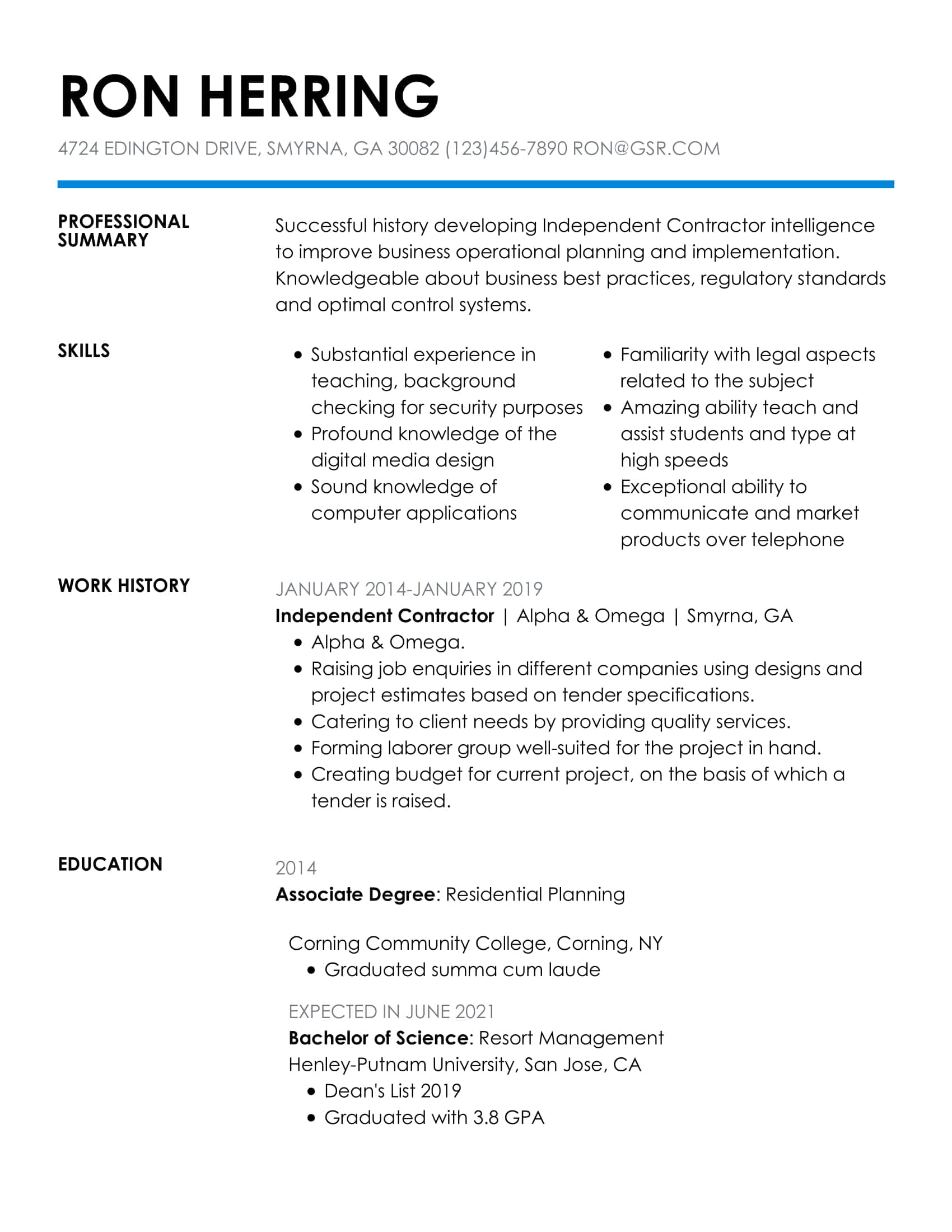 resume templates edit in minutes easy professional template insightful blue substitute Resume Easy Professional Resume Template